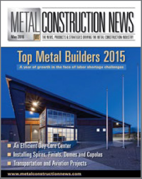 Image of Metal Construction News.  Fox Building Company was named one of the top metal building general contractors in the U.S. by Metal Construction News.