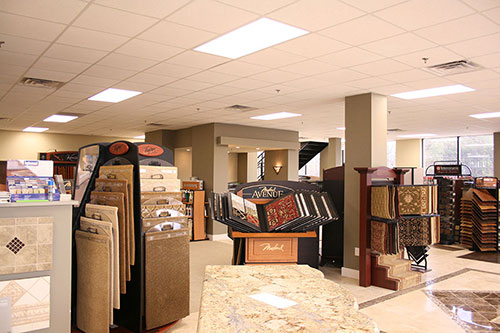 Image of Idlewood Interiors' commercial interior renovation for their showroom just outside Atlanta GA ...