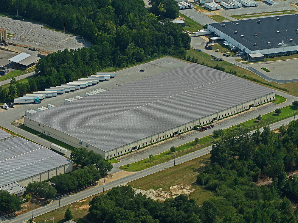 Image of a distribution center in Columbus GA.  Fox Building Company was the general contractor.