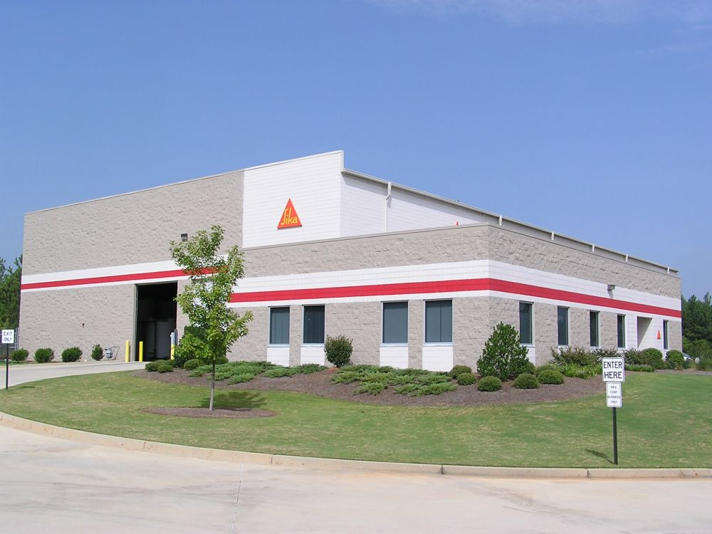 Image of Sika in Conyers just east of Atlanta GA.  Fox Building Company was the general contractor